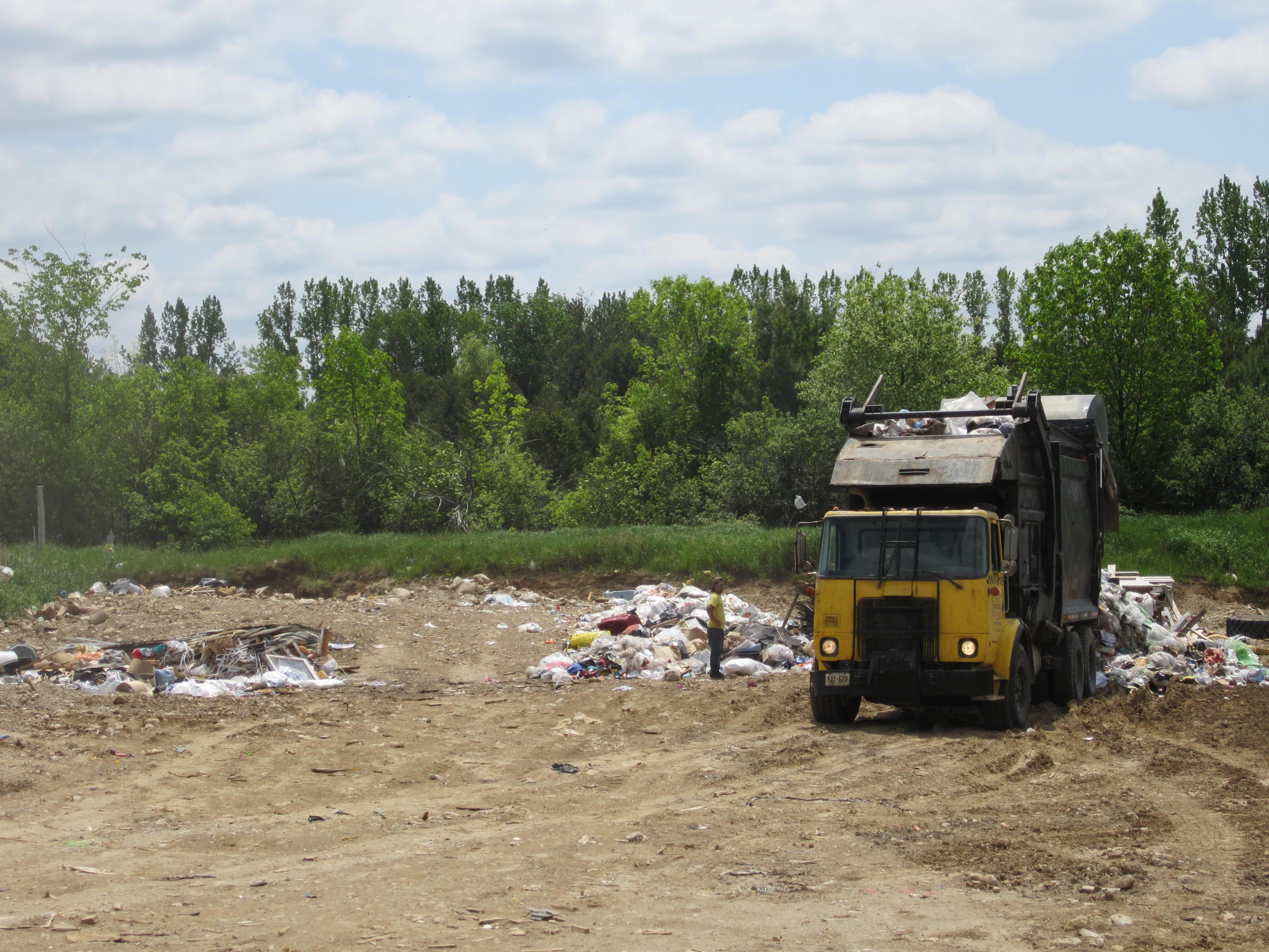 Brant Landfill - Dumping Waste