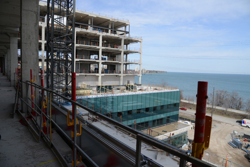 View of Lake Ontario from our new patient tower.