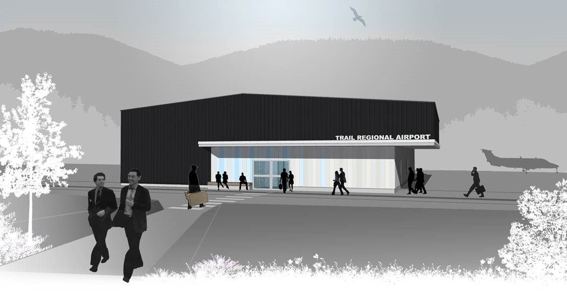 Trail Airport Building Rendering