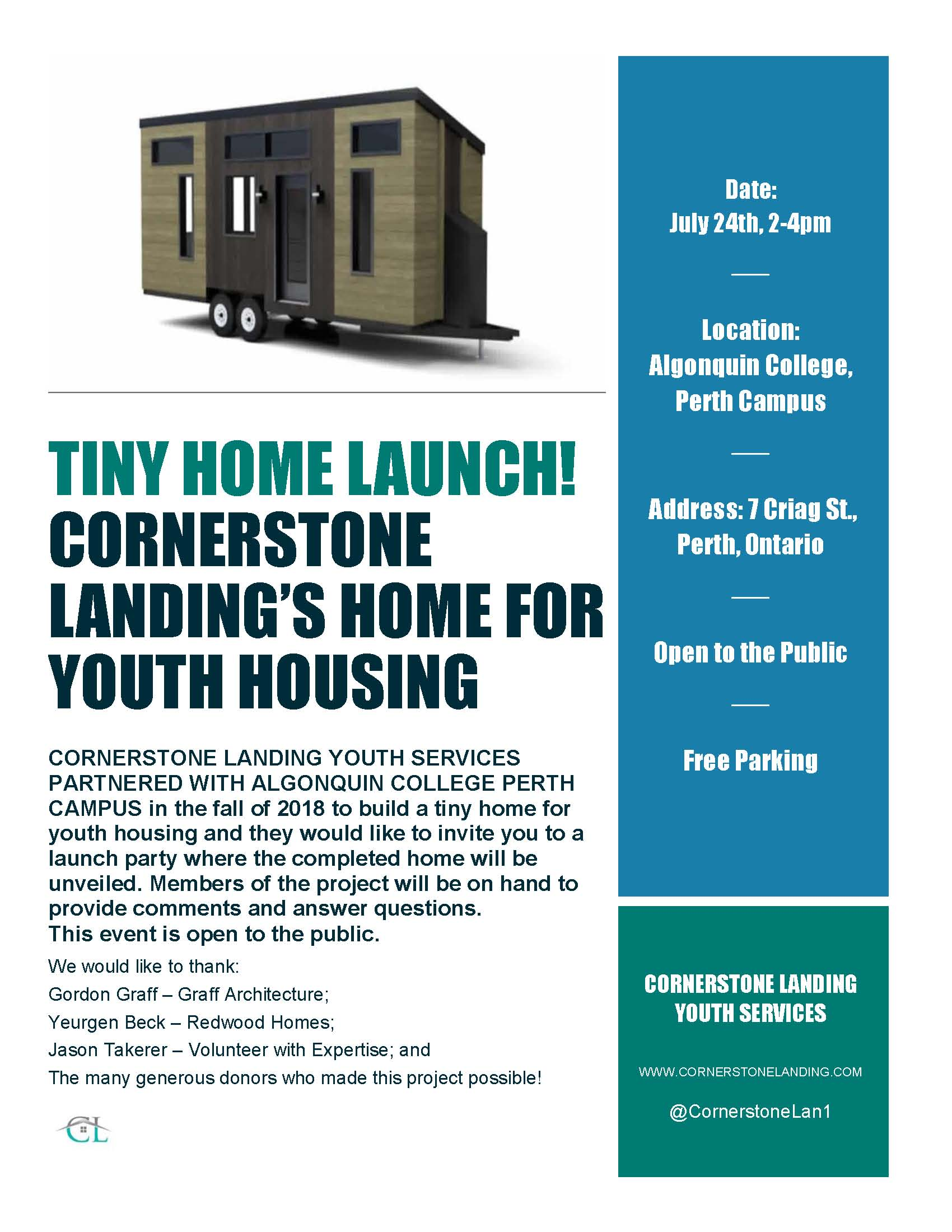 Tiny Home launch