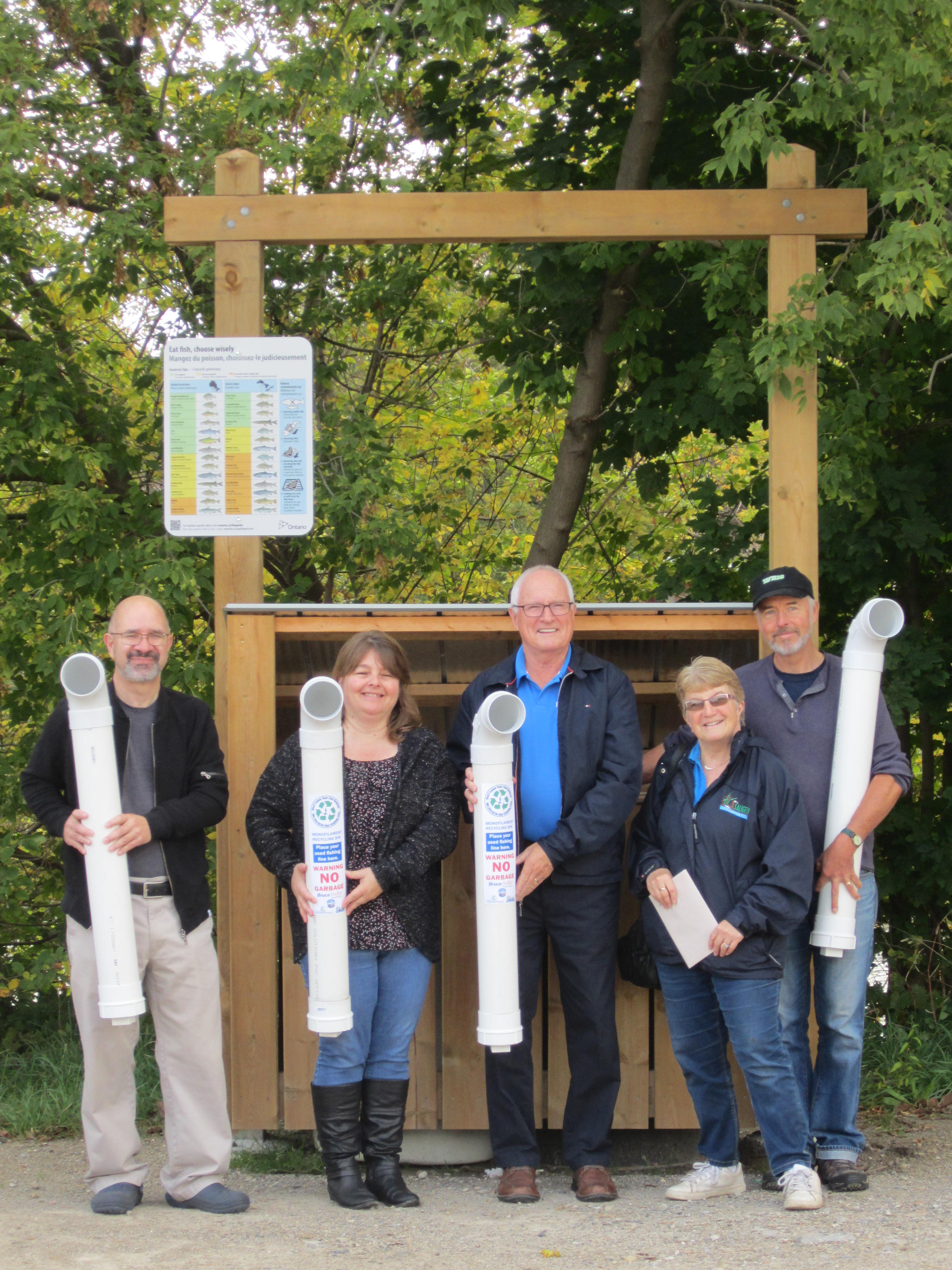 Fishery Task Force Fishing Line Waste Receptacles Unveiling