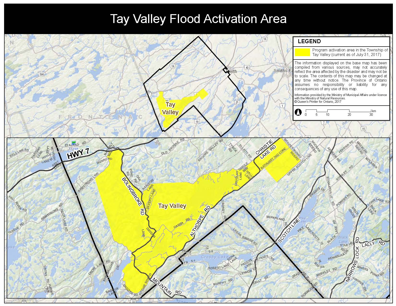 DRAO Tay Valley Map EN