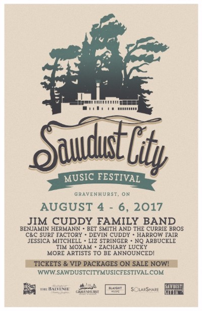 SAWDUST CITY MUSIC FEST POSTER