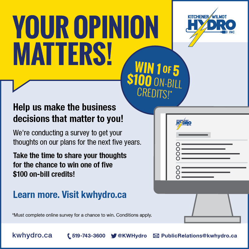 Kitchener-Wilmot Hydro's Customer Survey