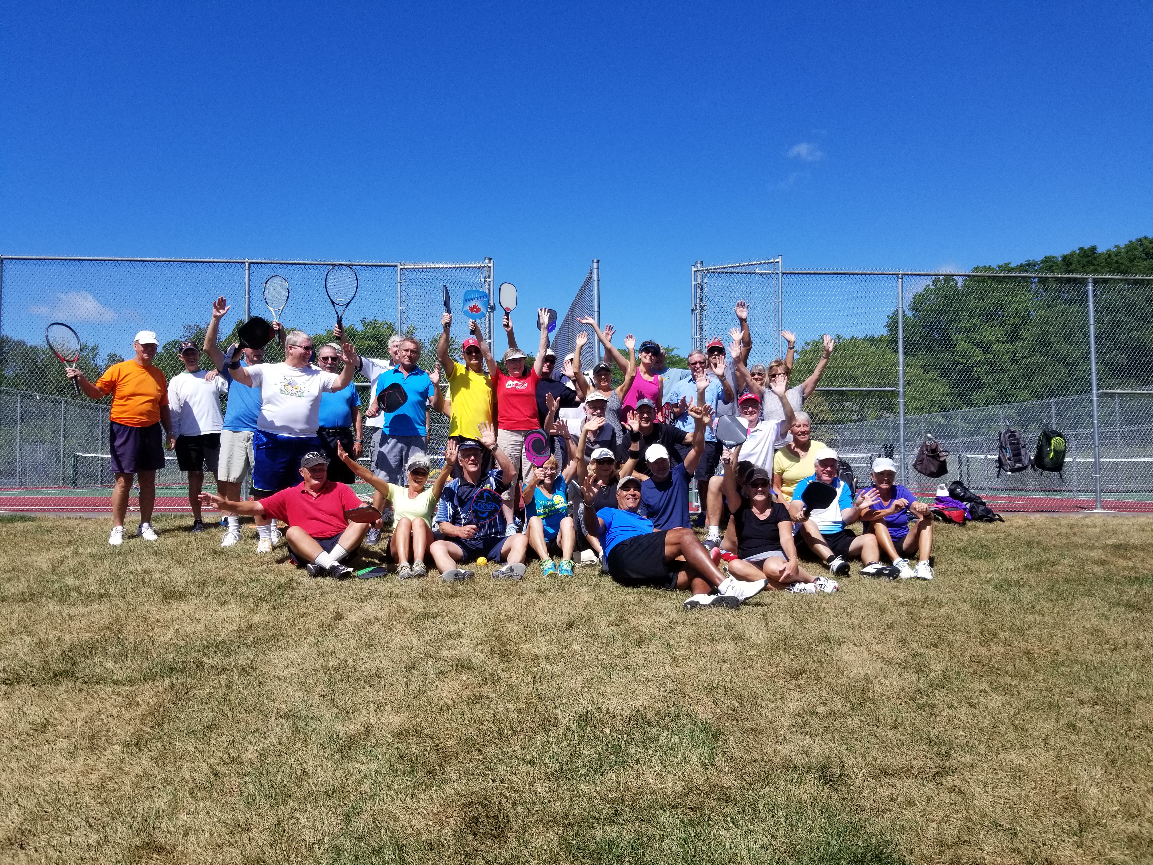 Pickleball and Tennis Group Photo