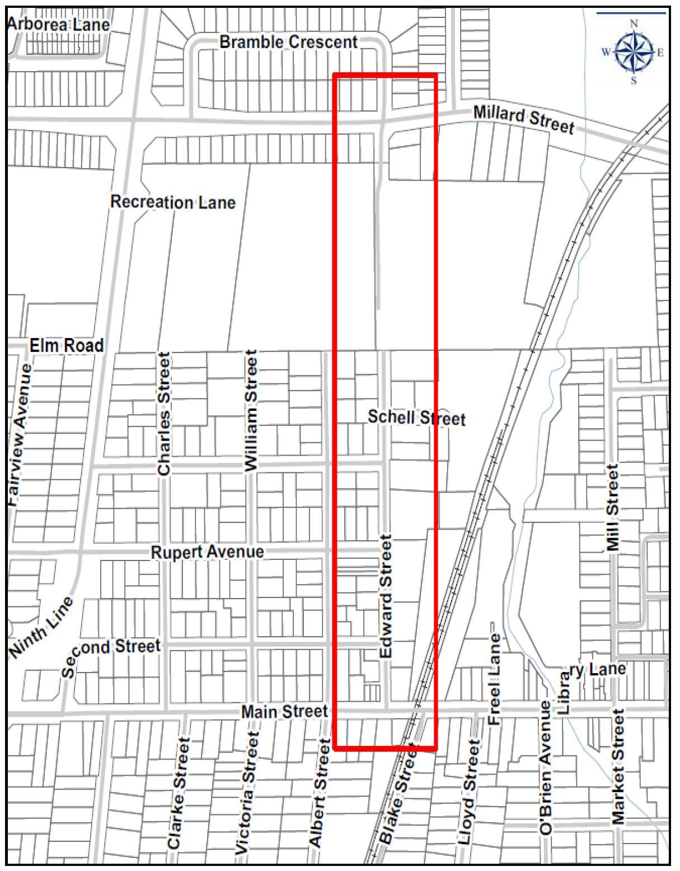 Edward Street Map