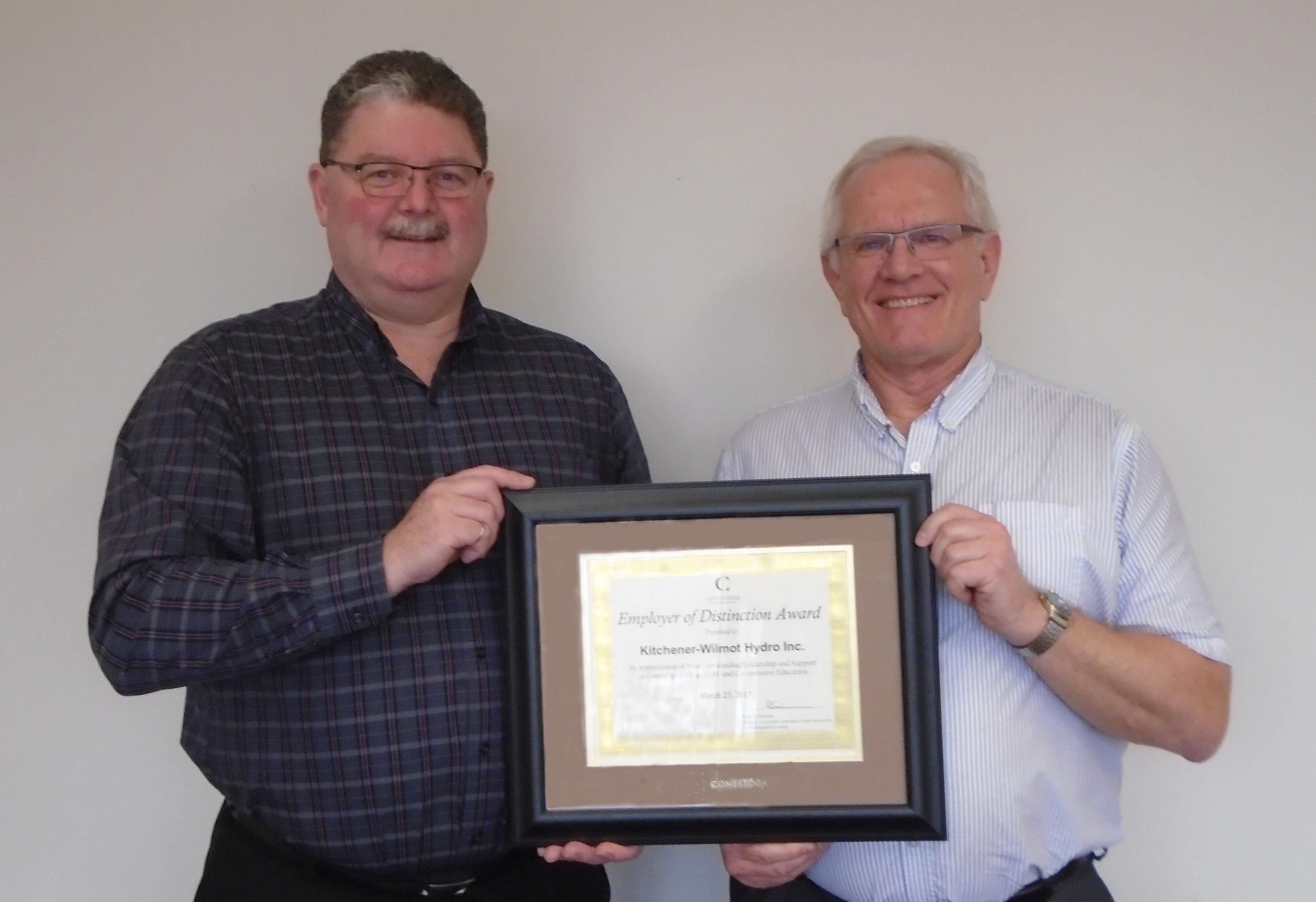 Kitchen er-Wilmot Hydro Employer of Distinction Award