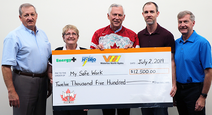 2019 IBEW Golf Tournament Cheque Presentation