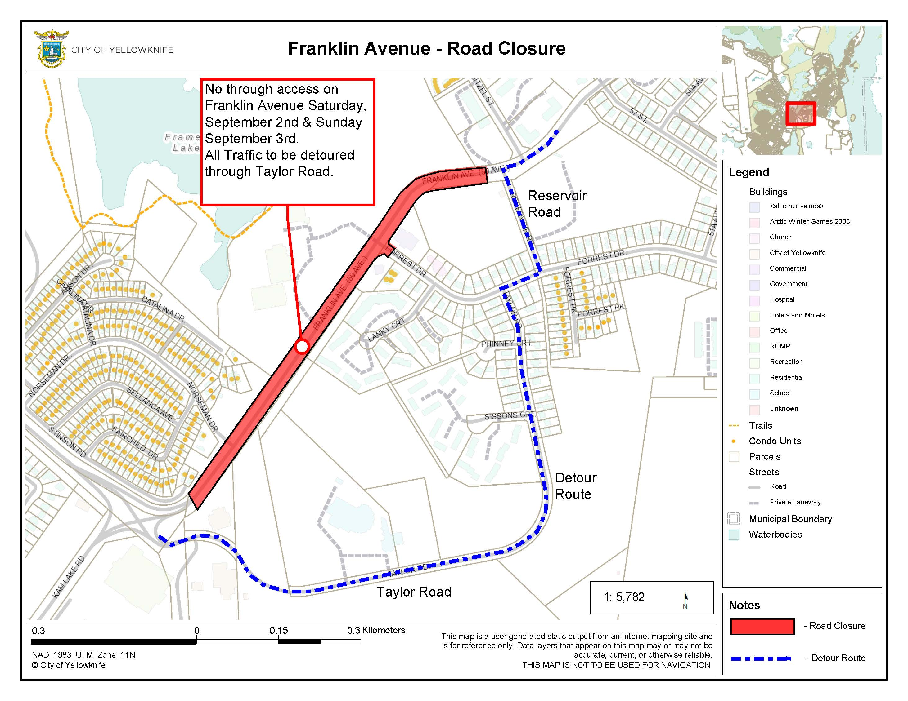 Franklin Ave. Road Closure