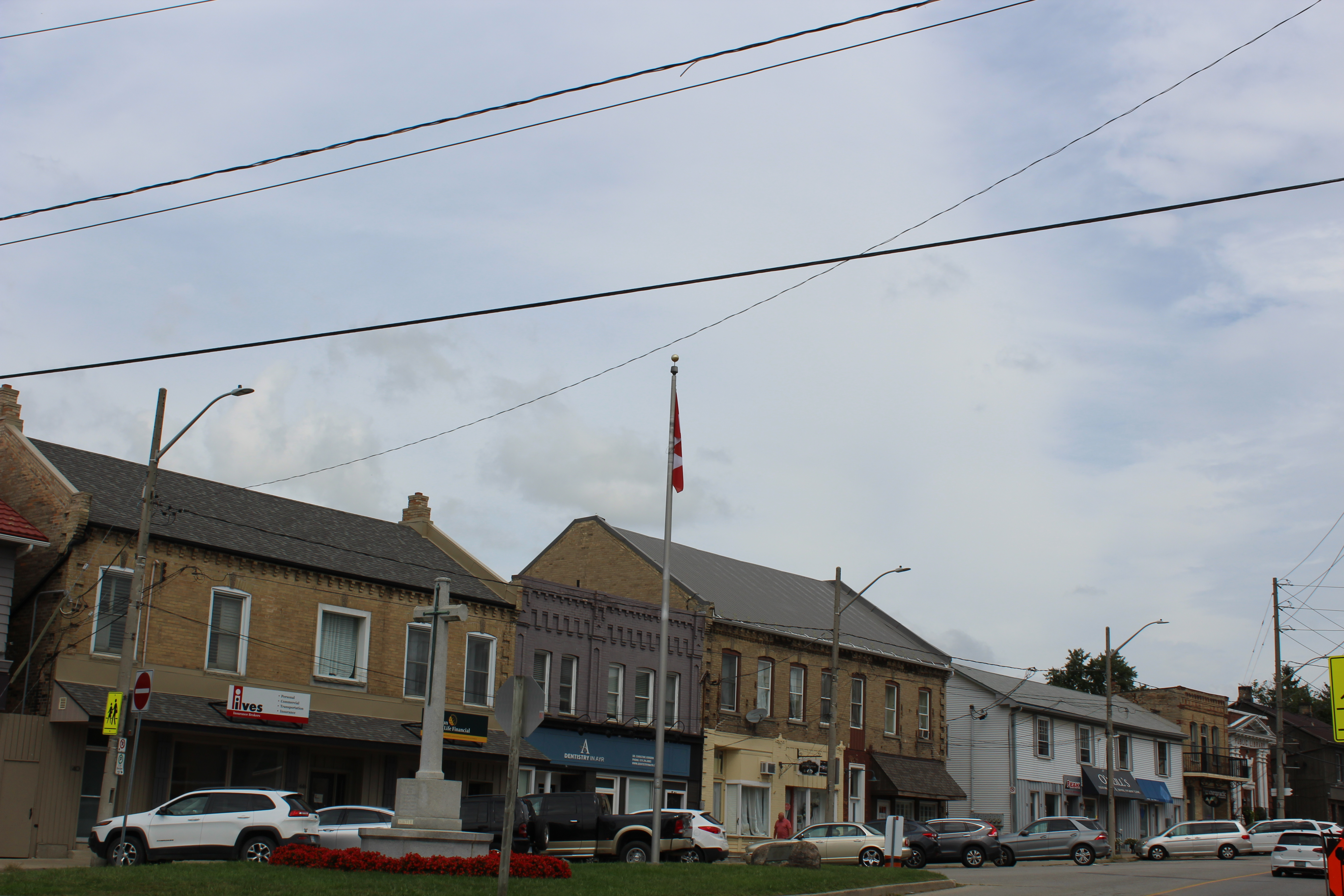 Energy Efficient LEDs on main street in downtown Ayr