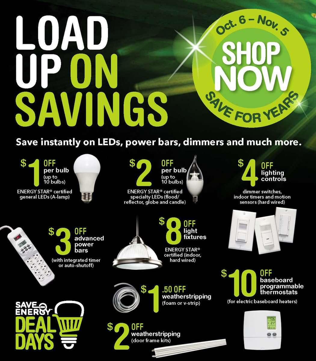 Save On Energy Deal Days October 6 to November 5