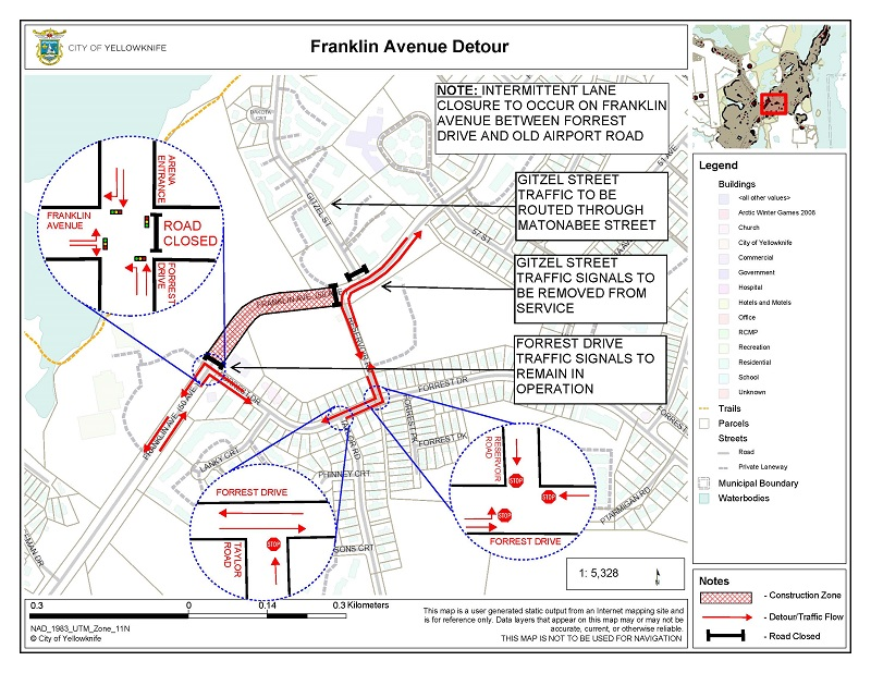 Franklin Ave. detour