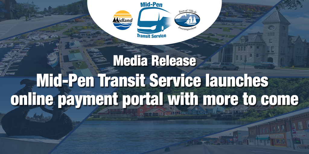 Media Release - Mid-Pen Transit Service launches online payment portal with more to come - social