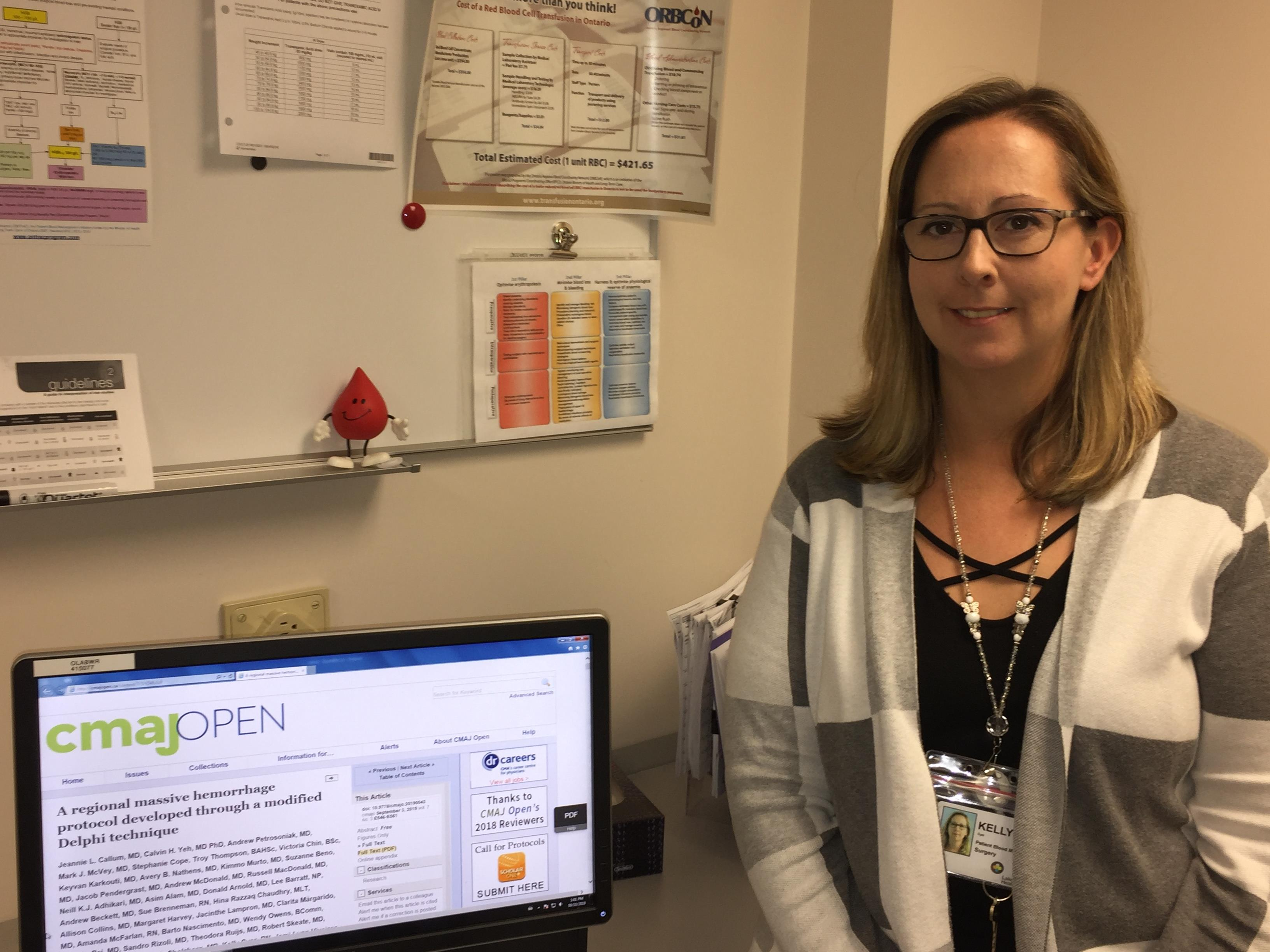 Kelly Syer, RN, contributes to a groundbreaking study published in CMAJ