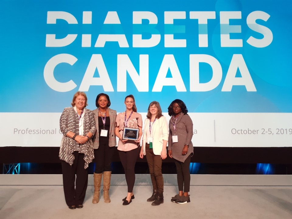Diabetes Program Receiving Accreditation Plaque