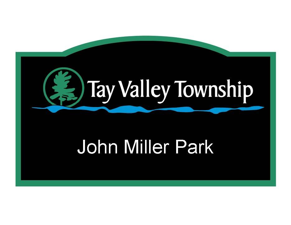Sign - John Miller Park name Sign