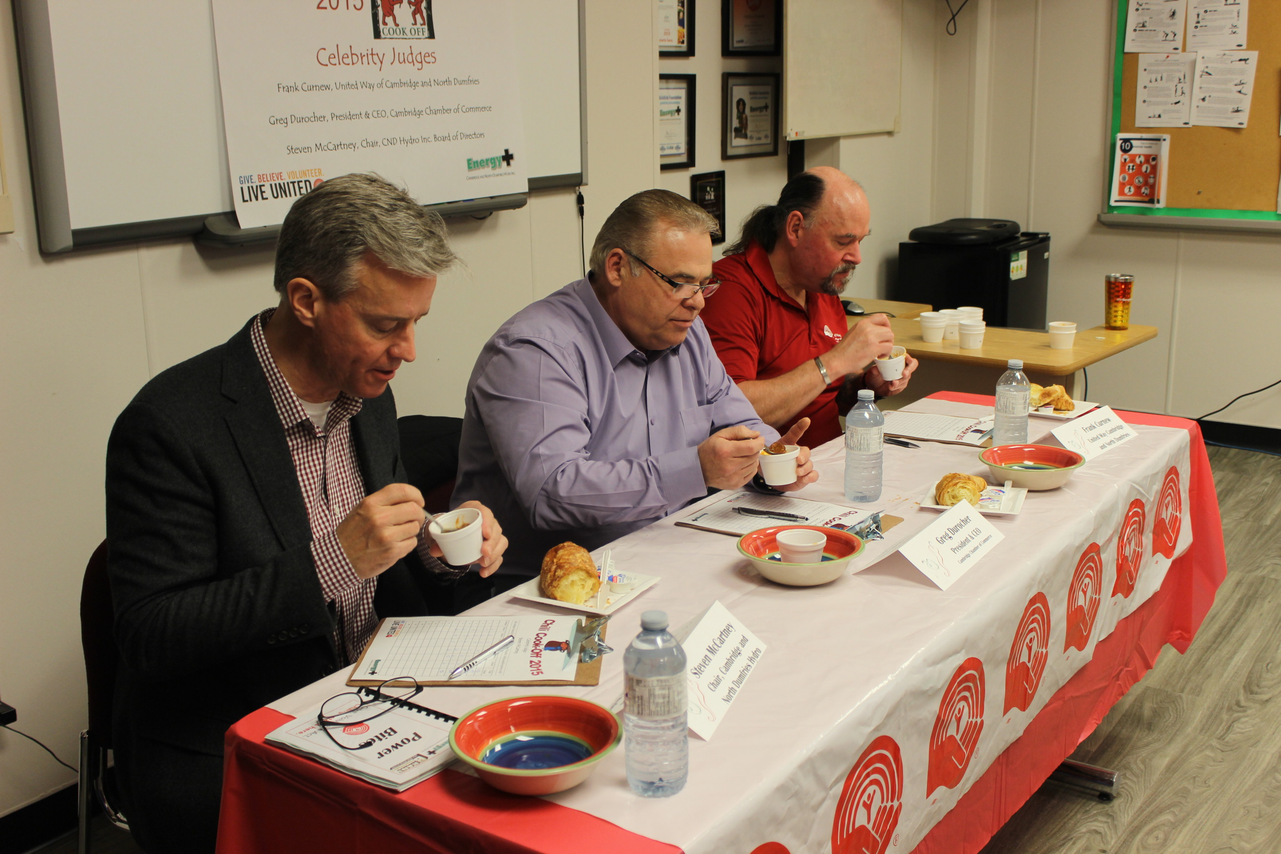 Energy+ Hydro Chilli Cook Off Judges
