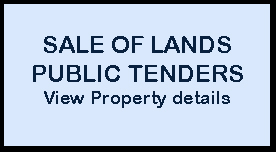 Sale of Lands- Public Tenders (Tax Sales)