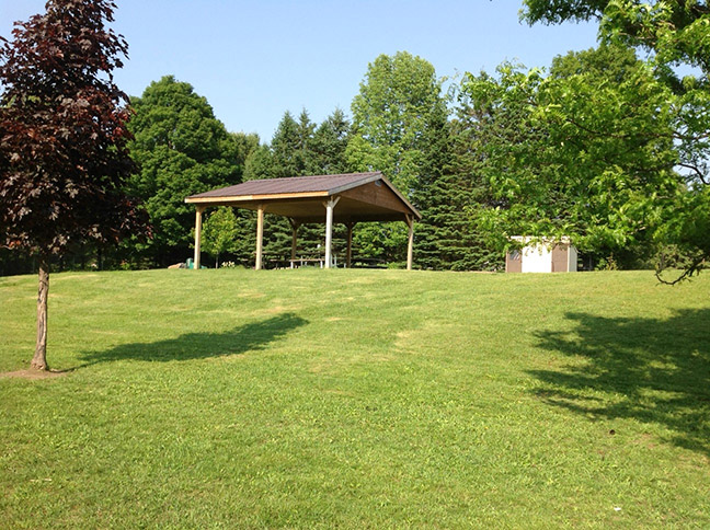 Picnic area at Apsley School