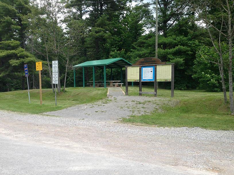 picnic shelter at Eels Creek Park