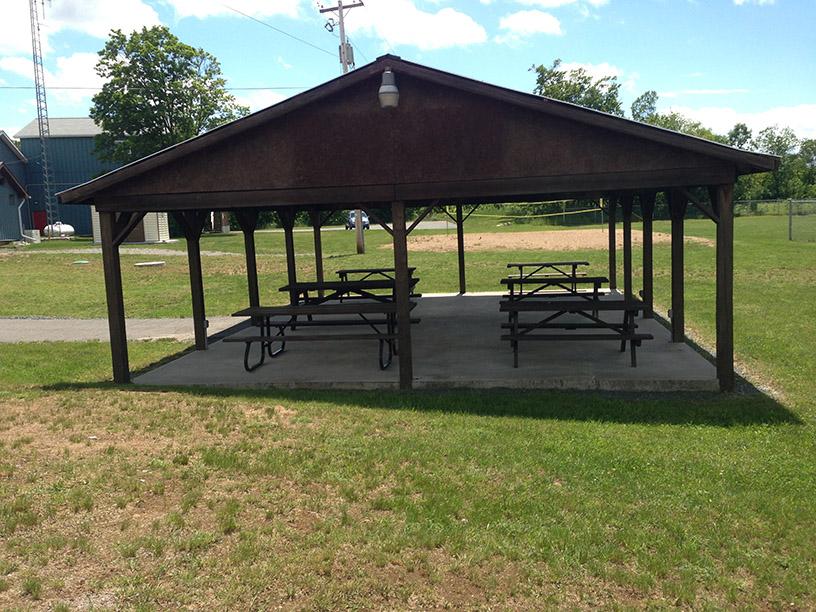 picnic shelter at Wilson Park